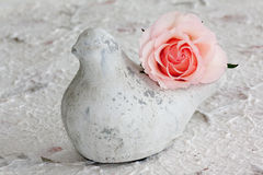 Peace Dove with Pink Rose Royalty Free Stock Photography