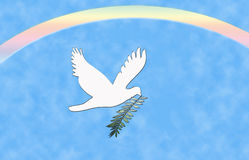 Peace Dove Rainbow Stock Photography