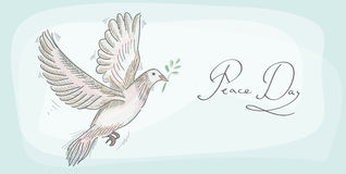Peace dove symbol texture background EPS10 file. Stock Images
