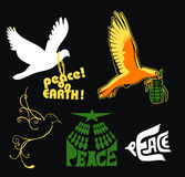 Peace dove weapon love earth symbol Royalty Free Stock Photo