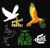 Peace dove weapon love earth symbol Royalty Free Stock Photo