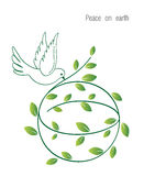 Peace on Earth. Illustration of a peace dove and globe with Olive branch Peace on Earth, each piece can be used separately Royalty Free Stock Image