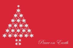 Peace on Earth Christmas Tree Abstract