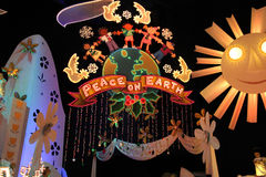 Peace on Earth. Decoration in small world at Disneyland, CA Royalty Free Stock Photos