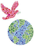 Peace on Earth Dove Dots Illustration Stock Photography