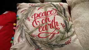 Peace on Earth Pillow Royalty Free Stock Photography