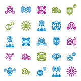 Peace earth and society unusual vector icons set, symbols Royalty Free Stock Images