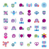 Peace and earth unusual vector icons set, creative symbols colle Royalty Free Stock Photography