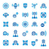 Peace and earth unusual vector icons set, creative symbols colle Stock Photo