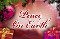 Peace on earth wishes. With background Stock Images