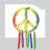 Peace emblem Royalty Free Stock Images