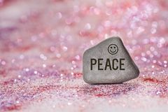 Peace engrave on stone royalty free stock photos