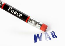 Peace erase war Stock Photos