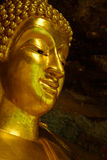 Peace. Face buddha sculpture in temple thailand Royalty Free Stock Photography