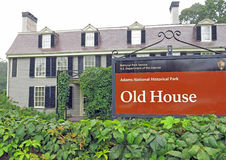 Peace Field or Old House, President Adams and Abigail's home, Qu Royalty Free Stock Photo