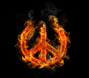 Peace on Fire Royalty Free Stock Photos