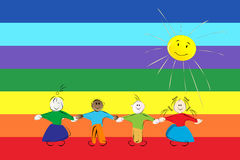 Peace flag Stock Image