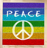 Peace Flag on Chalkboard Stock Photo
