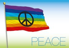 Peace flag and symbol with text Royalty Free Stock Photos