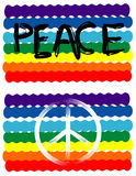 Peace Flag, Peace Sign. Vector Peace Flag and Peace Sign Royalty Free Stock Photos
