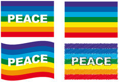 Peace flag set Stock Photo