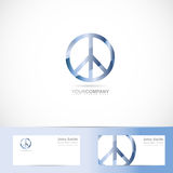 Peace flower power sign symbol logo. Vector logo template of peace flower power sign symbol with business card Royalty Free Stock Image