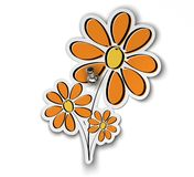 Peace flower sticker Stock Images