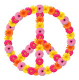 Peace flower symbol Royalty Free Stock Images