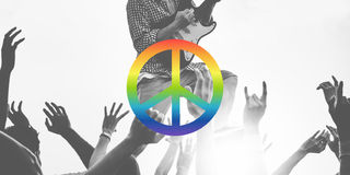 Peace Freedom Hope Pacifist Spiritual Love Concept Stock Photos