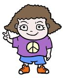 Peace girl Royalty Free Stock Photo