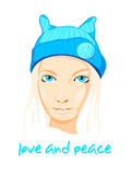 Peace girl Stock Photo
