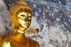 Peace gold buddha Stock Images