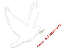 Peace and Goodwill. Traditional christmas greeting Stock Images