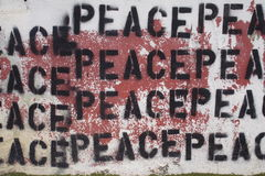 Peace Graffiti. Graffiti of the word ''Peace'' on a wall Stock Images