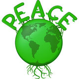 Peace On The Green Earth vector illustration