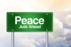 Peace Green Road Sign Royalty Free Stock Image