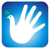 Peace hand Royalty Free Stock Images