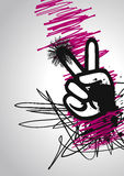 Peace hand graphic Stock Photos