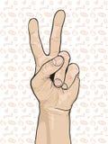 Peace Hand Sign Stock Photos