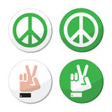 Peace, hand sign  icons set Royalty Free Stock Image