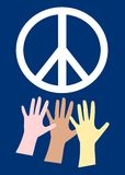 Peace & hands Stock Image