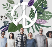 Peace Happy Hippie Love Retro Concept Stock Photography