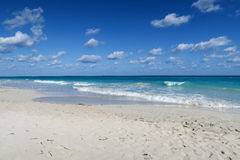 Peace and harmony of the Atlantic. An idyllic day on the Atlantic Ocean, CUba, Varadero Stock Photography
