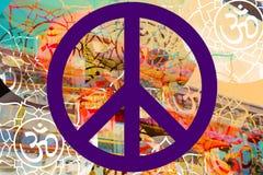 Peace Hippie Design Photo. Peace sign Hippie Design Colorful Photo art piece Royalty Free Stock Photo