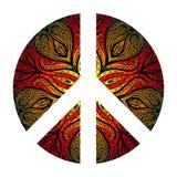 Peace Hippie Symbol over decorative ornate background.  Freedom, Stock Photos