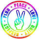 Peace hippy symbol Royalty Free Stock Image