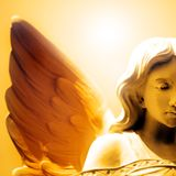 Peace and Hope of Angel Love Stock Image