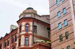Peace Hotel Exterior in Shanghai Royalty Free Stock Images