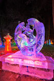 The peace ice-lantern festival Stock Photography