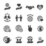 Peace icons set vector symbols Royalty Free Stock Photos